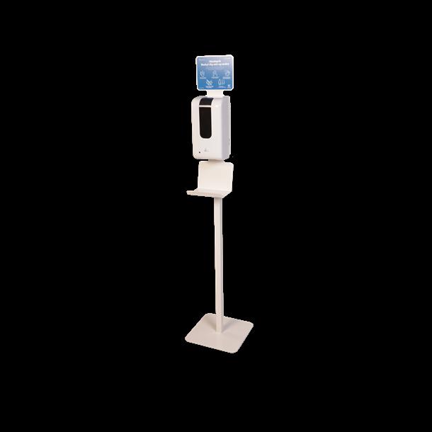 Komplet stander med automatisk dispenser og skilt